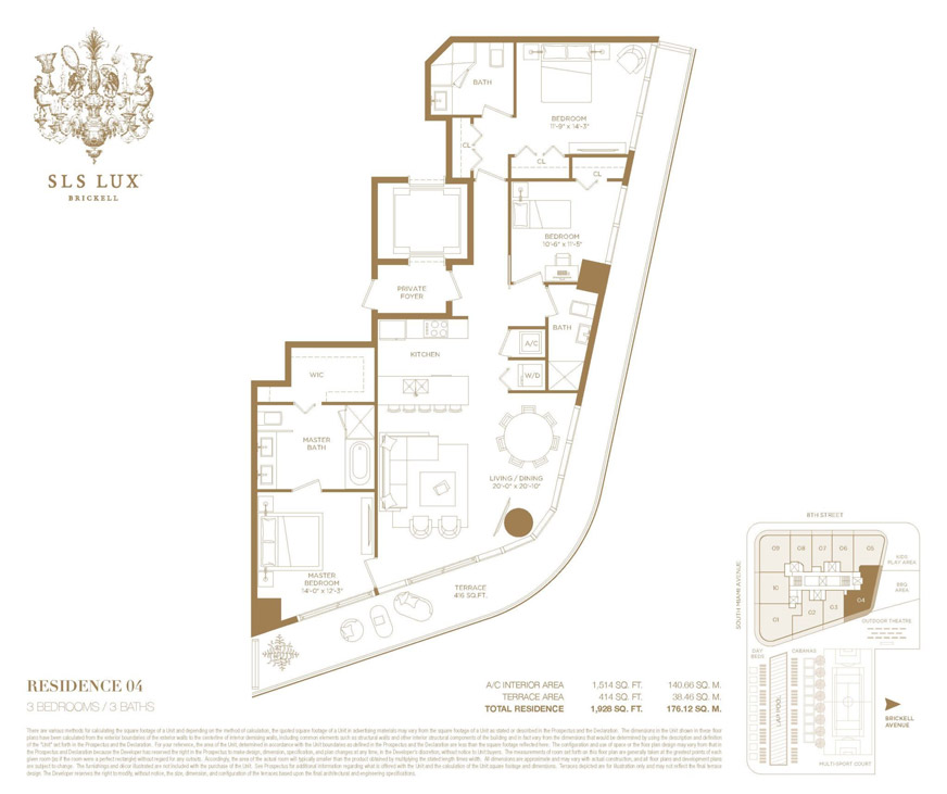 SLS LUX Floor Plan