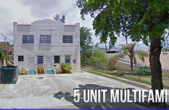 5 Unit Multifamily Home in Little Havana